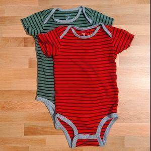 Carter's Striped Bodysuit Set, Size 12mo